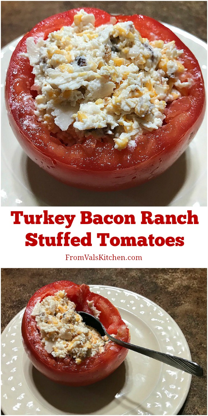 Gluten-free Turkey Bacon Ranch Stuffed Tomatoes Recipe From Val's Kitchen