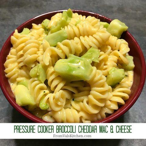 Pressure Cooker Broccoli Cheddar Mac & Cheese