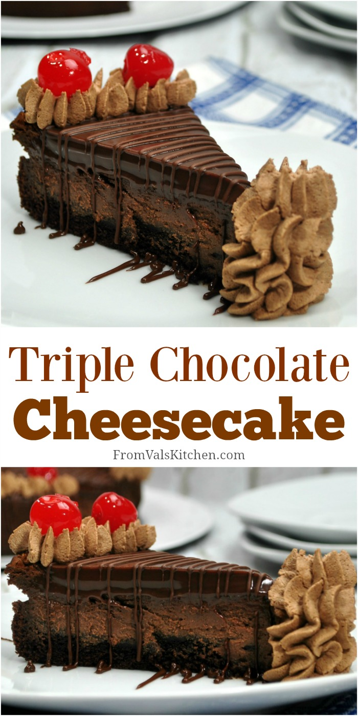 Triple Chocolate Cheesecake Recipe From Val's Kitchen