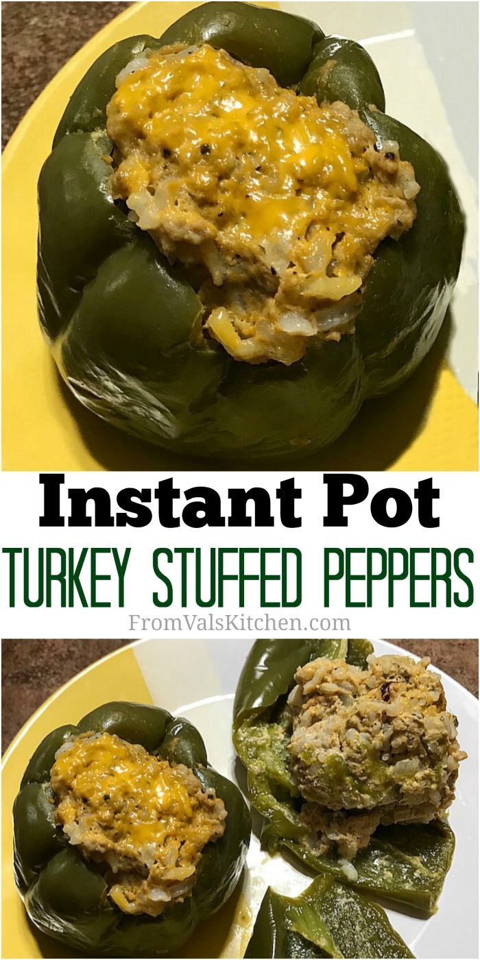 Instant Pot Turkey Stuffed Peppers Recipe From Val's Kitchen