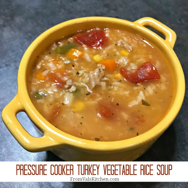 Pressure Cooker Turkey Vegetable Rice Soup Recipe From Val's Kitchen