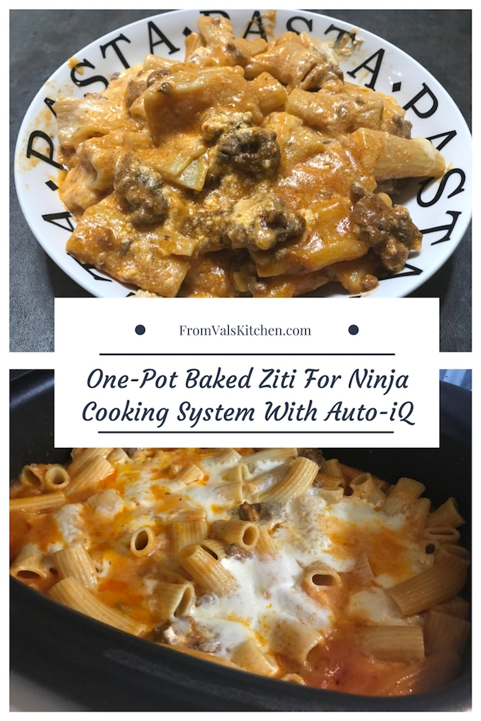 One-Pot Baked Ziti Recipe & Ninja Cooking System With Auto-iQ