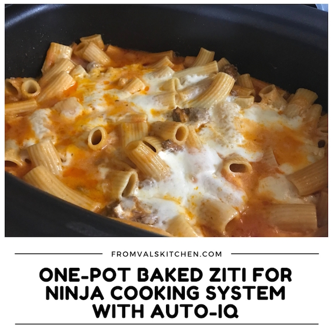 One-Pot Baked Ziti Recipe & Ninja Cooking System With Auto-iQ