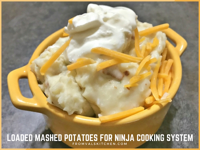 Gluten-free Loaded Mashed Potatoes Recipe For Ninja Cooking System From Val's Kitchen
