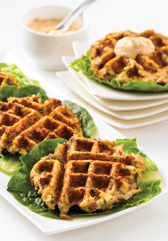 Crispy Crab Cakes with Chipotle Aioli - 150 Best Waffle Maker Recipes