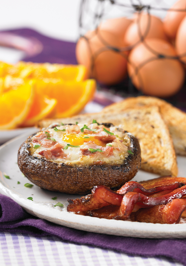 Portobello and Prosciutto Air-Fried Eggs From 175 Best Air Fryer Recipes