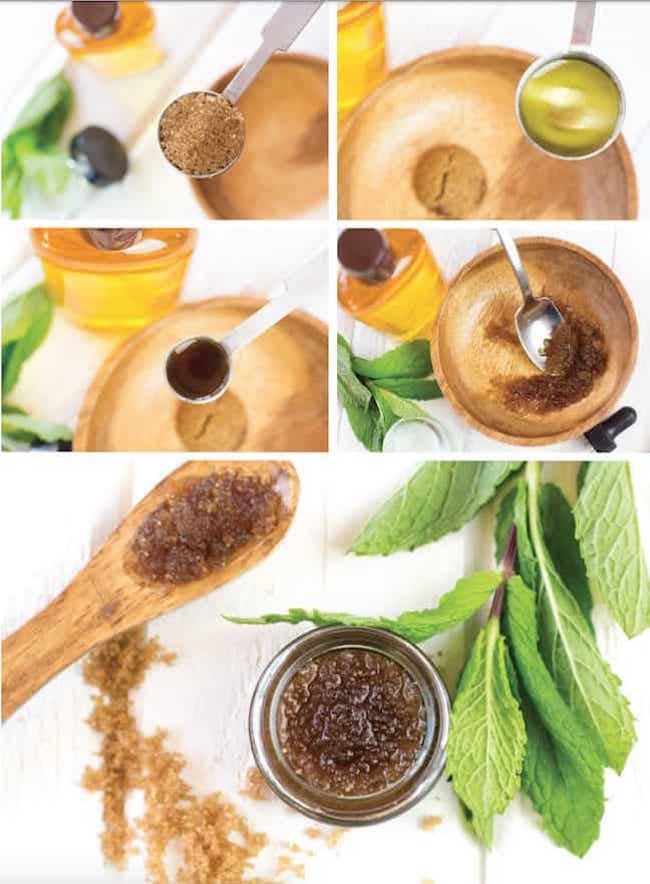 Pucker-Up Peppermint Lip Scrub From The Compassionate Chick's Guide To DIY Beauty