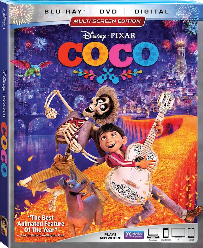 Disney Pixar Coco blu-ray