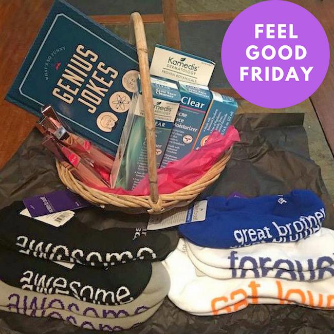 Feel Good Friday - notes to self socks, Kamedis Botanical Skin Care, Hard Candy, Genius Jokes
