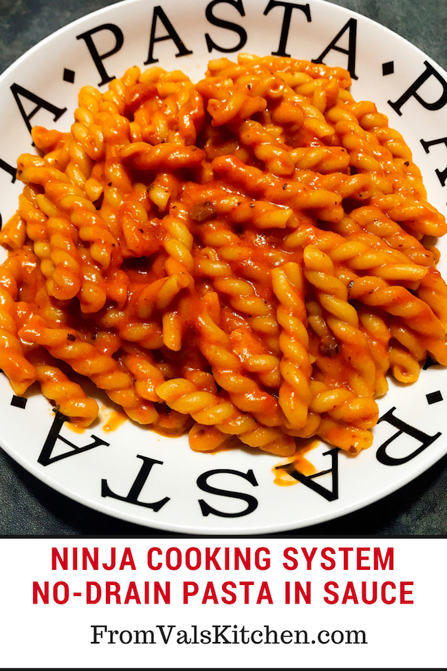Easy No Drain Pasta Recipe For Ninja Cooking System From Val's Kitchen