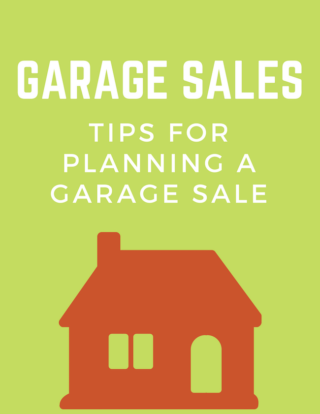 How To Plan For A Garage Sale