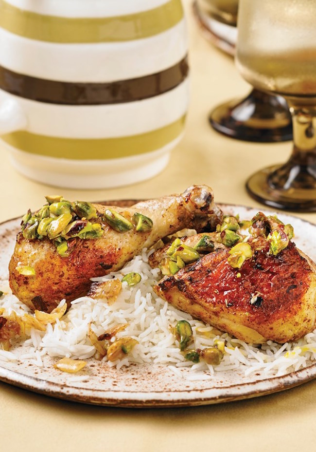 Sheet Pan Chicken With Pistachios And Honey recipe from Best Of Bridge: Sunday Suppers