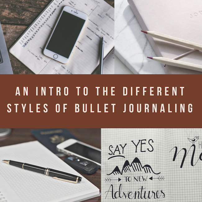 An Intro To The Different Styles Of Bullet Journaling