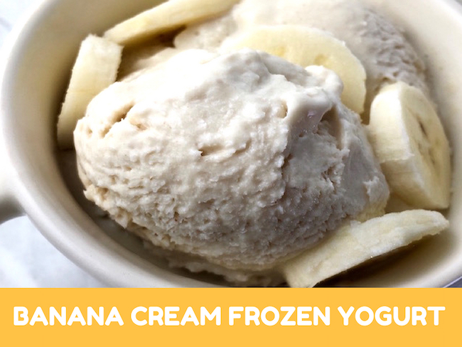 Banana Cream Frozen Yogurt Recipe