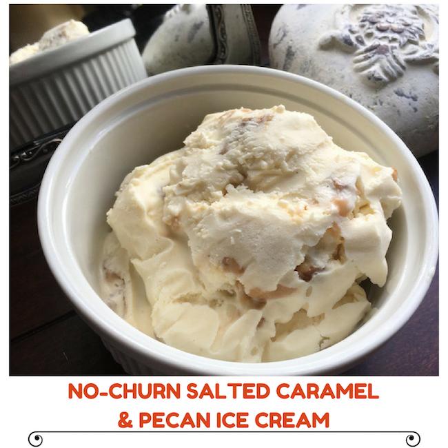 No-Churn Salted Caramel & Pecan Ice Cream Recipe