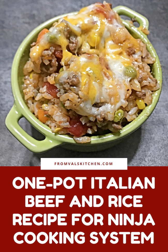 Gluten-free One-Pot Italian Beef And Rice Recipe For Ninja Cooking System From Val's Kitchen