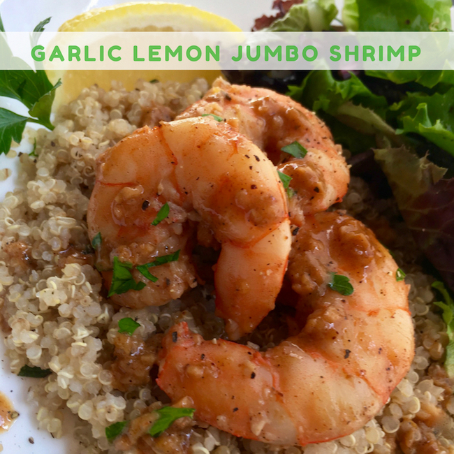 Garlic Lemon Jumbo Shrimp Recipe
