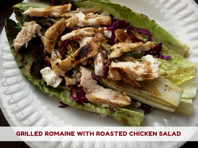 Grilled Romaine with Roasted Chicken