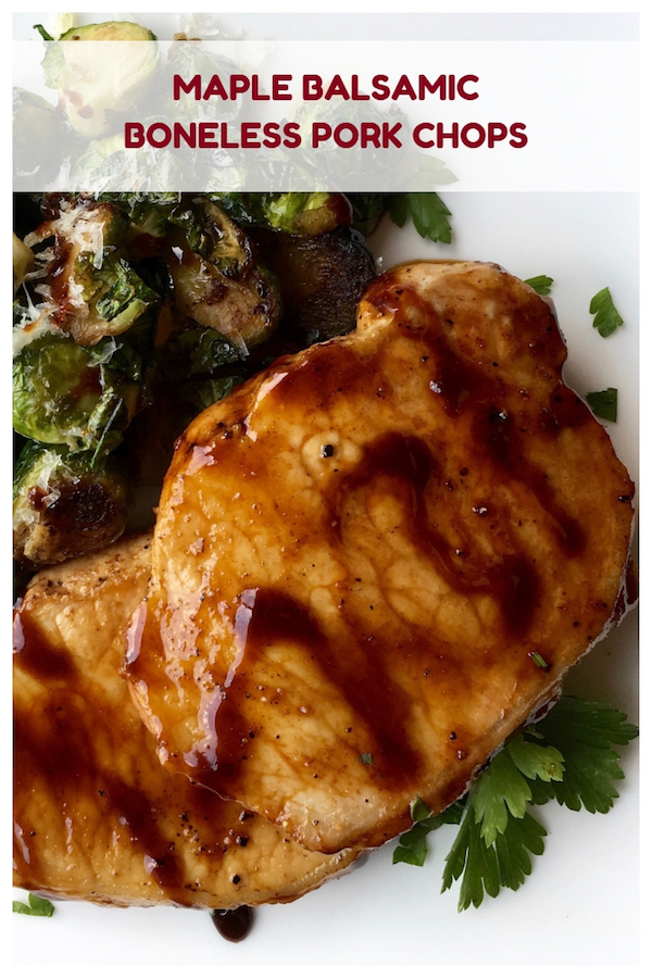 Maple Balsamic Boneless Pork Chops Recipe
