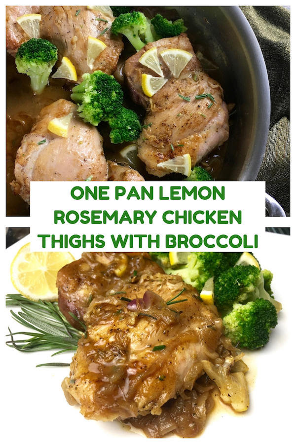 One Pan Lemon Rosemary Chicken Thighs with Broccoli , From