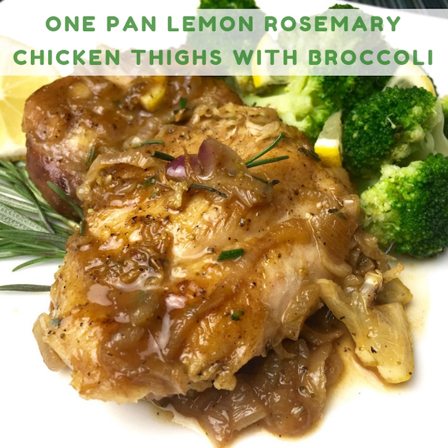 One Pan Lemon Rosemary Chicken Thighs with Broccoli