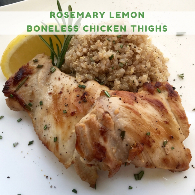 Rosemary Lemon Boneless Chicken Thighs Recipe