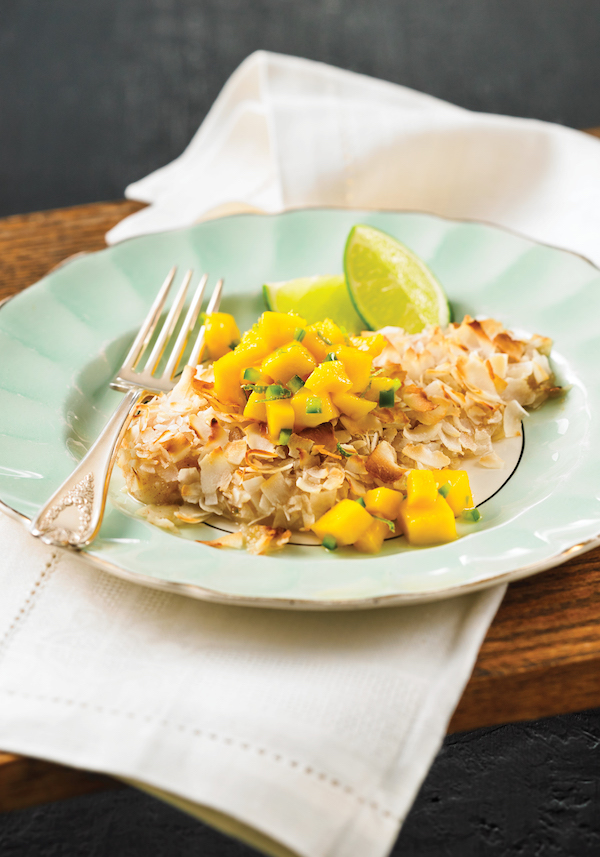 Coconut Fish With Mango Salsa Recipe From Best Of Bridge Weekday Suppers