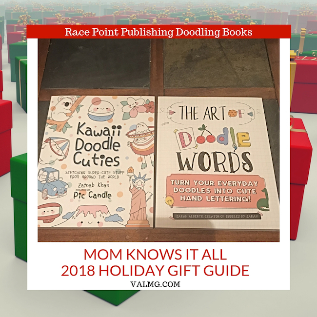 MOM KNOWS IT ALL 2018 HOLIDAY GIFT GUIDE - Race Point Publishing Doodling Books