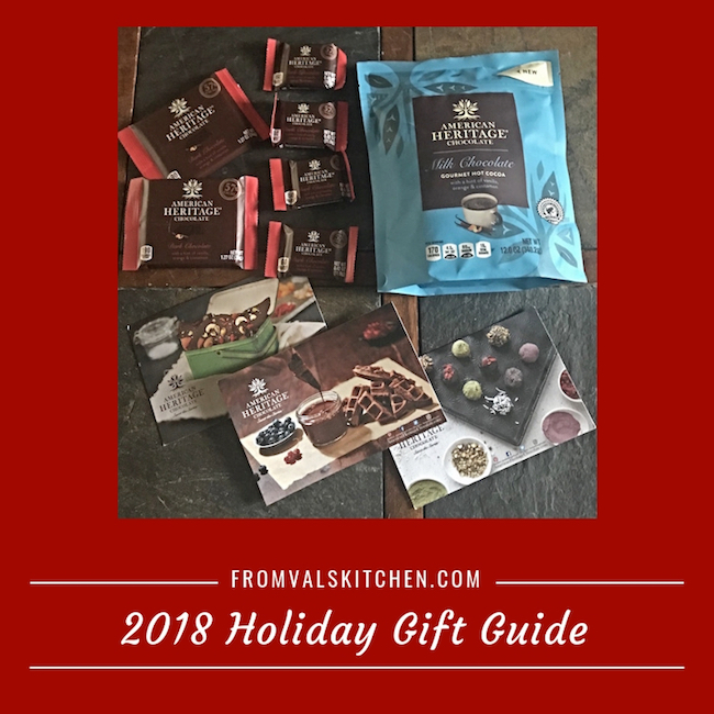 2018 Holiday Gift Guide - American Heritage Chocolate - With Chocolate Crinkle Cookies Recipe