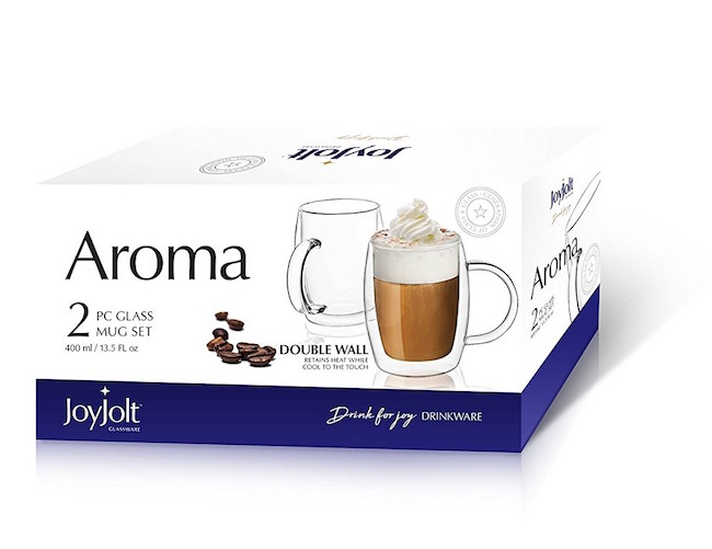 2018 Holiday Gift Guide - JoyJolt Aroma Insultated Coffee Mugs