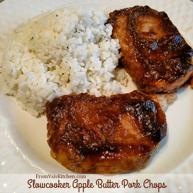 Slowcooker Apple Butter Pork Chops #Recipe For Ninja 3-in-1 Cooking System