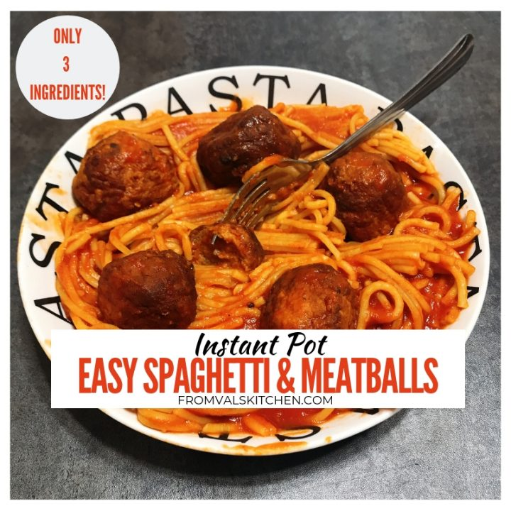 Easy Instant Pot Spaghetti And Meatballs recipe