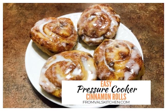 Easy Pressure Cooker Cinnamon Rolls