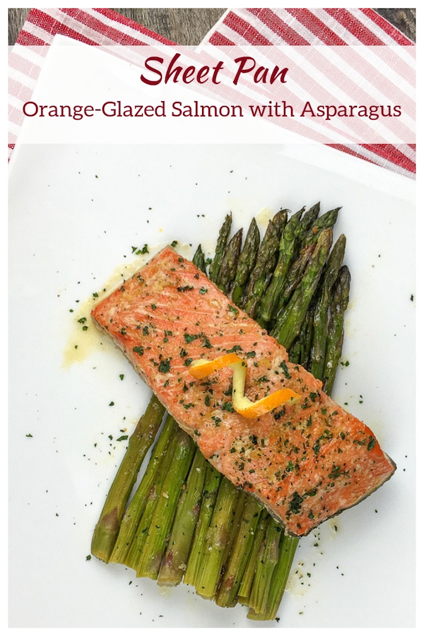 Sheet Pan Orange-Glazed Salmon with Asparagus