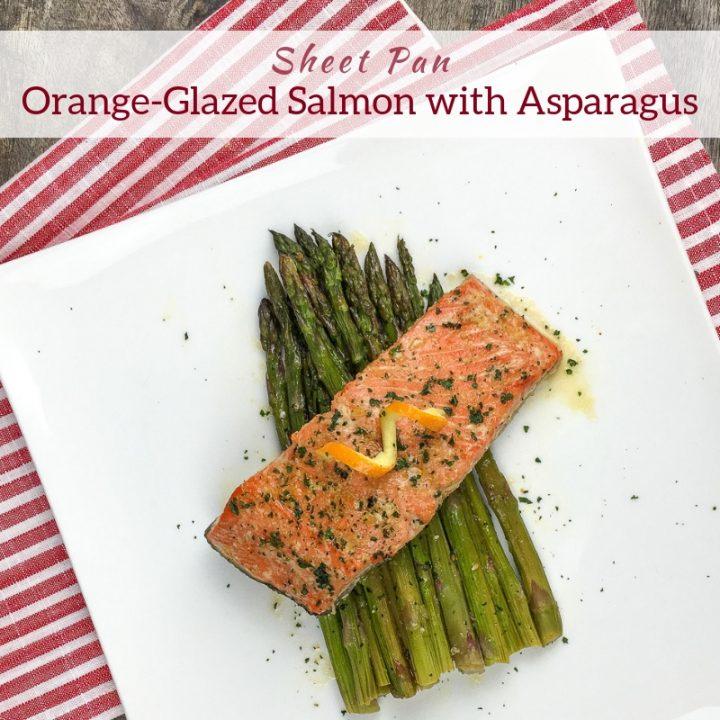 Sheet Pan Orange-Glazed Salmon with Asparagus
