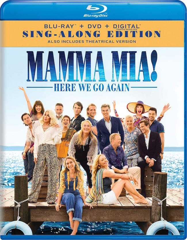 Mamma Mia! Here We Go Again Sing Along Edition blu-ray