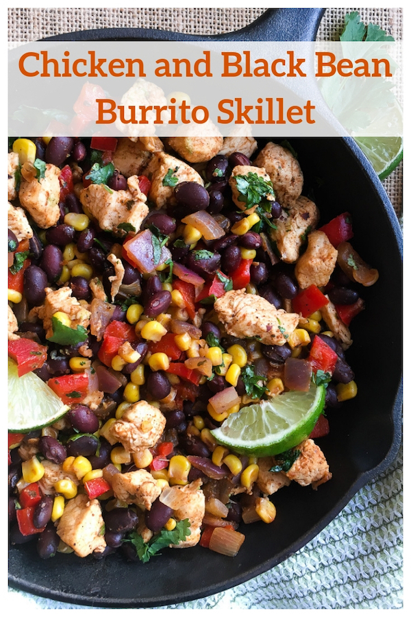 Chicken and Black Bean Burrito Skillet Recipe