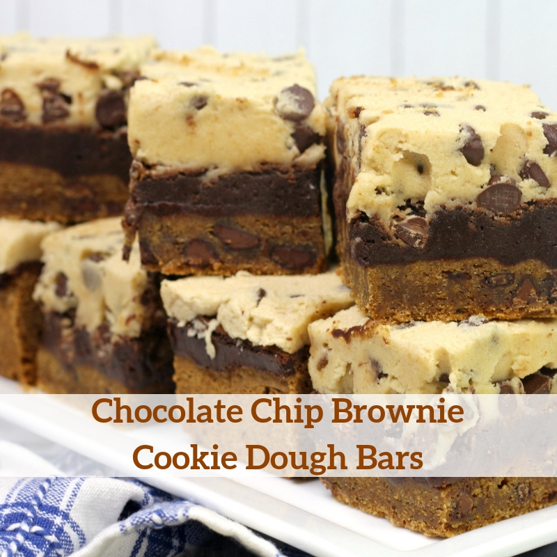 Chocolate Chip Brownie Cookie Dough Bars (Brookie Dough Bars)