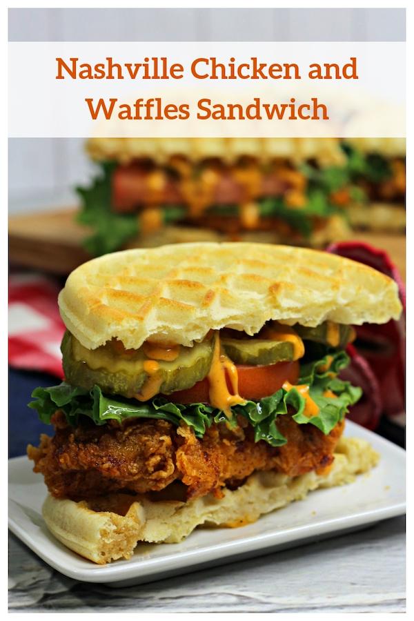 Nashville Chicken and Waffles Sandwich Recipe