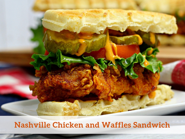 Nashville Chicken and Waffles Sandwich Recipe