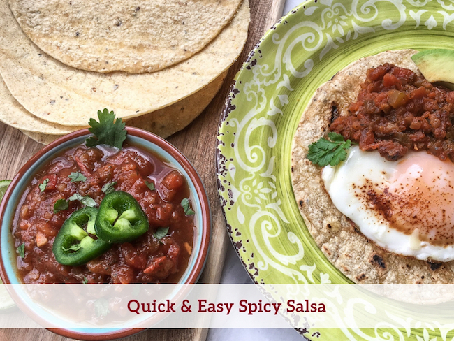 Quick & Easy Spicy Salsa Recipe