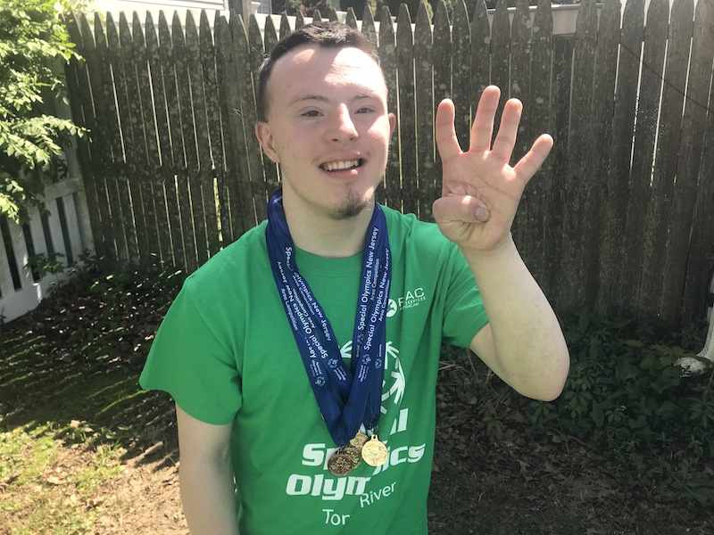 CJ At The 2019 Special Olympics Track And Field Area Competition