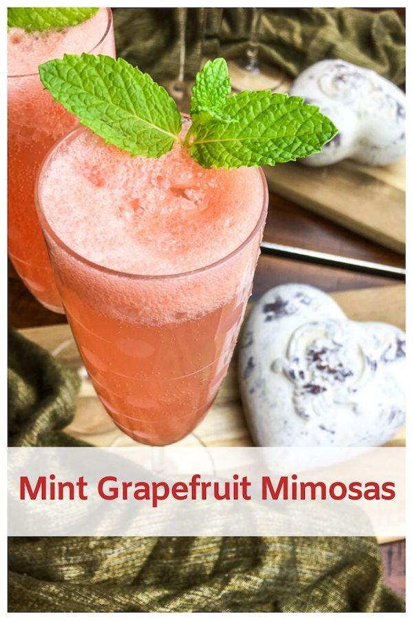 Mint Grapefruit Mimosas Recipe
