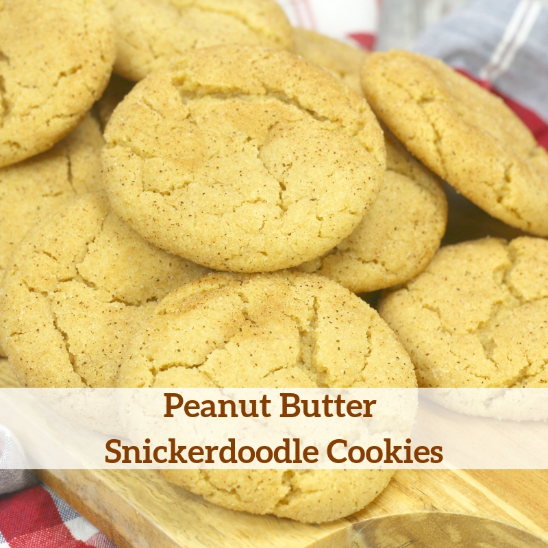 Peanut Butter Snickerdoodle Cookies Recipe