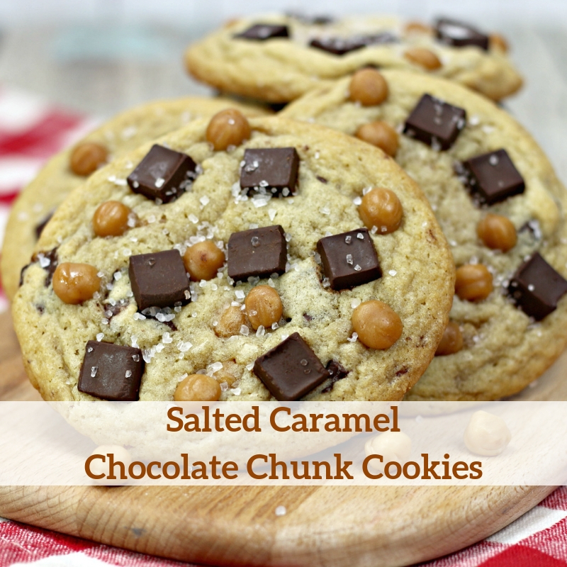 Salted Caramel Chocolate Chunk Cookies Recipe