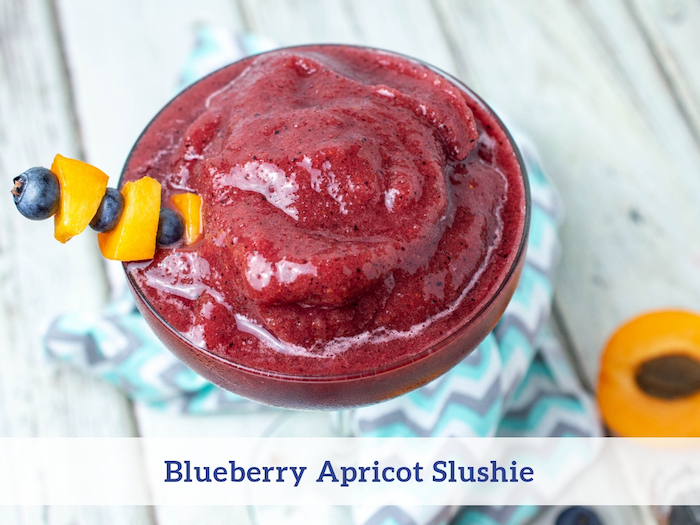 Blueberry Apricot Slushie Recipe