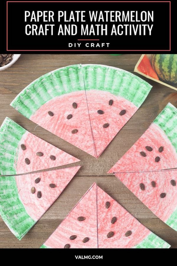Paper Plate Watermelon Craft And Math Activity