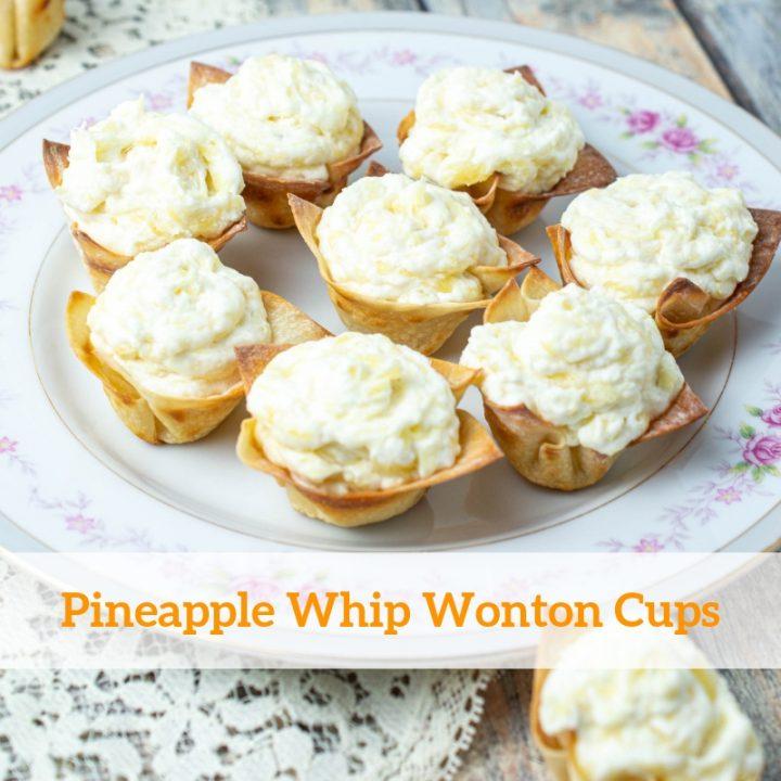 Pineapple Whip Wonton Cups