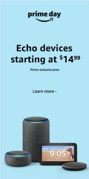 Amazon Prime Day Echo devices banner