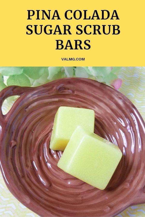 DIY Craft - Pina Colada Sugar Scrub Bars